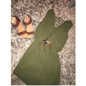 Urban Outfitters Dresses & Skirts - OLIVE GREEN REVERSIBLE DRESS