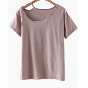 Urban Outfitters Tops - TAN CUT OUT T-SHIRT