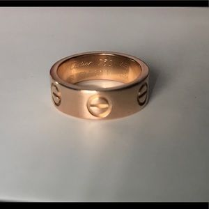 Cartier Love Ring 18k Rose Gold