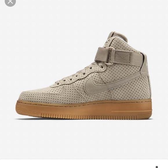 91a35656c7f Nike Air Force 1 High Top Suede Sneakers 8.5 Tan. M 58e840febf6df54ffa015738