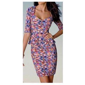 Kardashian Kollection Dresses & Skirts - Kardashian kollection multicolor peplum dress