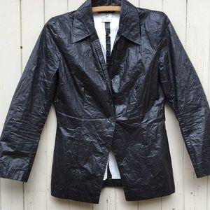 Ann Demeulemeester Jackets & Blazers - Ann Demeulemeester vintage black paper jacket, 40