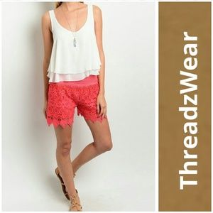 Threadzwear Pants - NWT Crochet Shorts