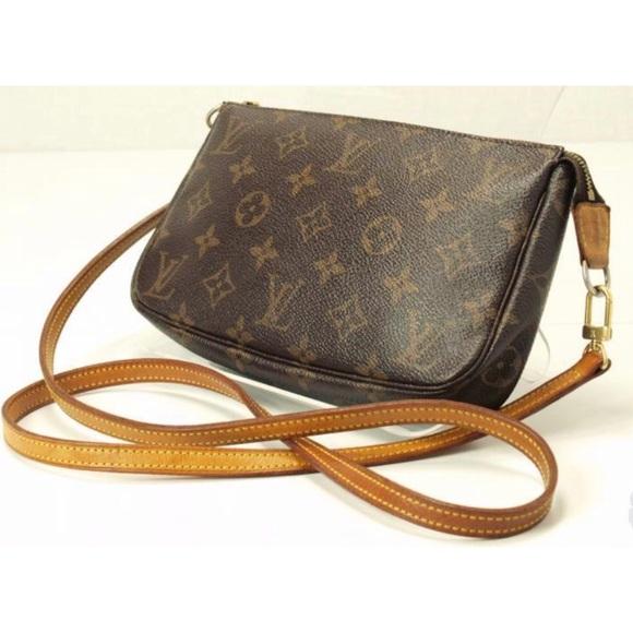 Louis Vuitton Handbags - 💯Authentic Louis Vuitton Pochette Crossbody Strap b5f7a27c5