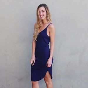 Dresses & Skirts - navy tank midi dress