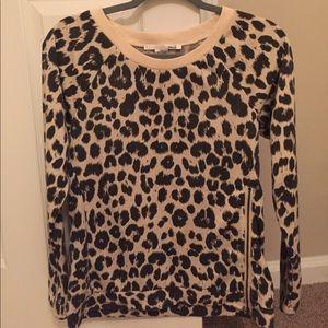 NWOT NEVER WORN!! Leopard print long sleeve shirt!