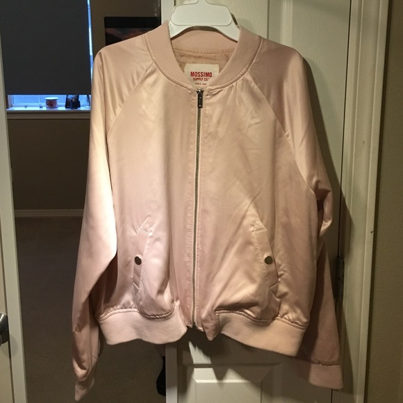 7caa03112 Champagne Pink Bomber Jacket