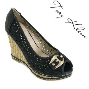 Women Wedge Buckle Espadrilles,  HW-1671, Black