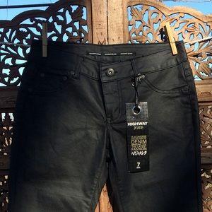Highway Jeans Denim - ⚡️20%SALE⚡️NWT Vegan leather coated HWJ straight