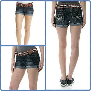 Wallflower Pants - WALLFLOWER Belted Denim Jean Shorts