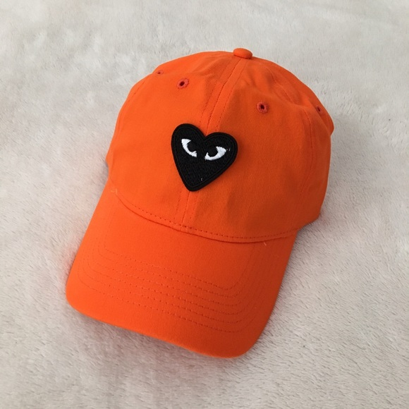84714dc68 Comme des Garcons embroidered patch dad hat orange NWT
