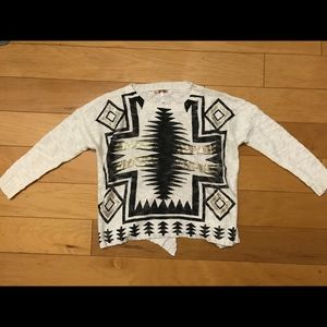 36 Point 5 Sweaters - 36 Point 5 beige loose tribal print sweater size L