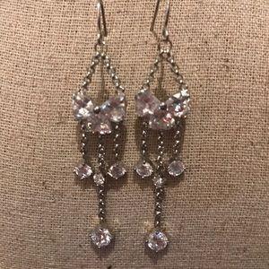 NWT Rhinestone drop earrings.