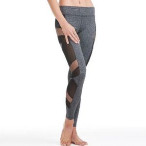 Electric Yoga Pants - Electric Yoga Charcoal Sexy Mesh Panel Leggings