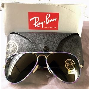 Ray-Ban Other - Ray-Ban Full Color Aviator Sunglasses RB3025JM