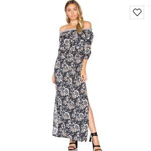 Tiare Hawaii Dresses & Skirts - REVOLE SAGE MAXI FLORAL OFF THE SHOULDER DRESS