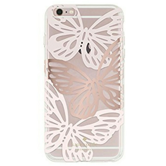 finest selection 5ab4c db6e8 New! Kate Spade Butterfly iPhone 6 Plus Case Clear