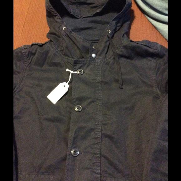 Save Khaki United Jackets & Coats - Save Khaki United Unisex Navy Blue Fish Tail Parka
