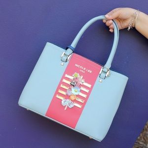 Nicole Lee Color Block Tote!