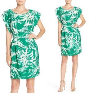 ELIZA J Palm print summer dress