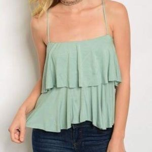 Twilight Gypsy Collective Tops - SALE🌸soft layered cross-back tank ✨green