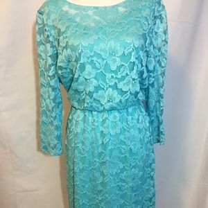 Leslie Fay Dresses & Skirts - Leslie Fay Lace Blue Dress $98 NWT Woman's Size 6