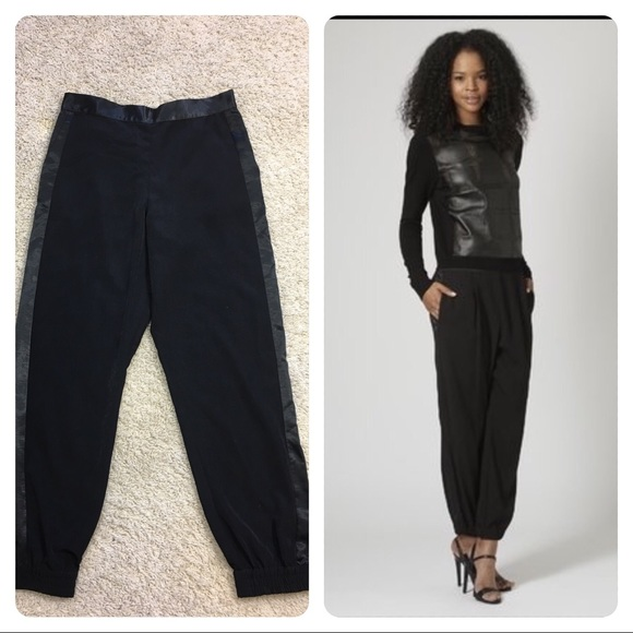 93f24b87412a4 Topshop Satin Side Stripe Luxe Joggers. M_58e871e8ea3f3604cf024971. Other  Pants ...
