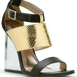 Paper Fox Shoes - ***ISO*** PRIVY SHOEDAZZLE LUCITE WEDGE 8.5