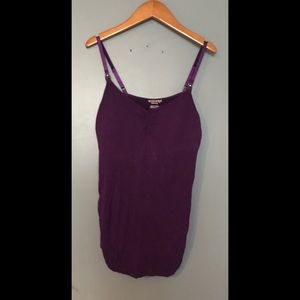 Motherhood Tops - Purple Motherhood Nursing Tank Top
