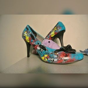 FLASH SALE Iron Fist Turquoise Comic Heel