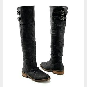 Venus Buckle Knee High Boots
