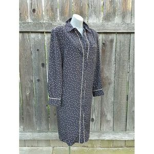 Who What Wear  Other - Oversized Nightshirt/Duster Black PolkaDot Size 1X