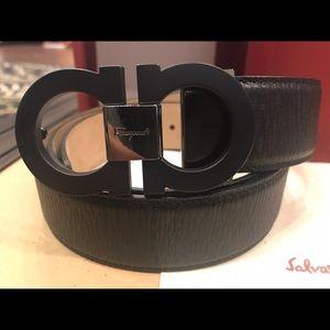 Salvatore Ferragamo Other - Salvatore Ferragamo Matte Black Calfskin Belt