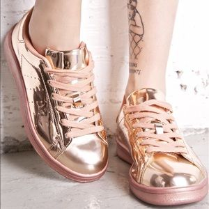 Dollskill Shoes - Melted Rose Metallic Sneakers