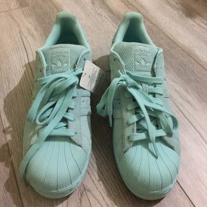 Adidas Other - Adidas Superstar Suede Shoes - Sz 10, Aqua