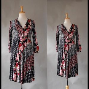 Vintage Boho Chic Patchwork Dress