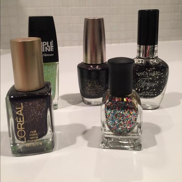 Makeup | Glitter Nail Polish Lot Opi Deborah Lippmann Etc | Poshmark