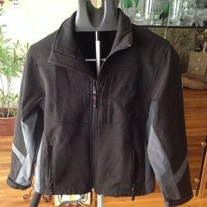 Black/gray zip up jacket Snozu M(10-12)