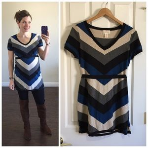 Destination Maternity Tops - Chevron maternity tunic