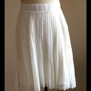 SJS Dresses & Skirts - New White Lace, Pleated Skirt Size XL by SJS