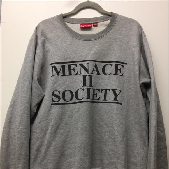 fd5c3344d13 Supreme Shirts   Crewneck Menace Ii Society   Poshmark