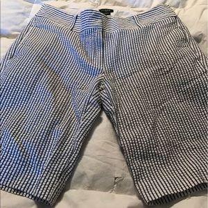 J.Crew seersucker navy and white shorts Sz 0