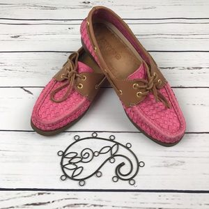 Sperry Shoes - Sperry Top Spider Pink Weave Women's 8.5 Boat Shoe
