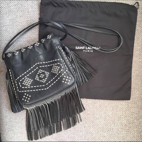 d6c4aa2a87d Saint Laurent Bags | Studded Helena Bag With Fringe | Poshmark