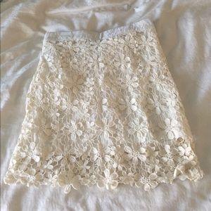 Sabo Skirt Dresses & Skirts - White lace sabo skirt mini skirt
