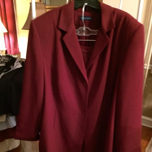 bb45a663343 Karen Scott Other - Women s plus size burgundy pant suit