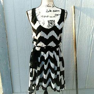 Dresses & Skirts - 🎉 HP🎉 Silver & Black Zebra Stripe Dress