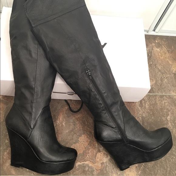 295978b456c Aldo Knee High Leather Boots