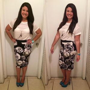 i jeans by Buffalo Dresses & Skirts - Floral pencil skirt
