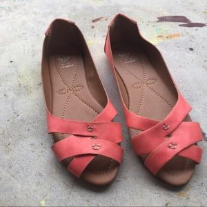 Shoes - Coral orange sandals